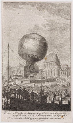 The first balloon ascent with animals, 19 September 1783.