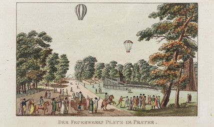 'The Fireworks Place at Prater', Vienna, Austria, c 1802.