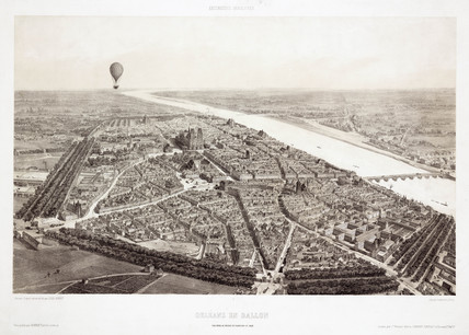 'Orleans in Balloon', c 1846.