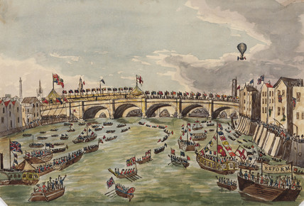 The opening of New London Bridge, 1 August 1831.