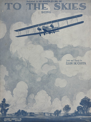 'To the Skies', sheet music, 1919.