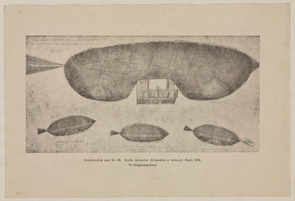 Baron Scott's design for an aerostat, 1789.