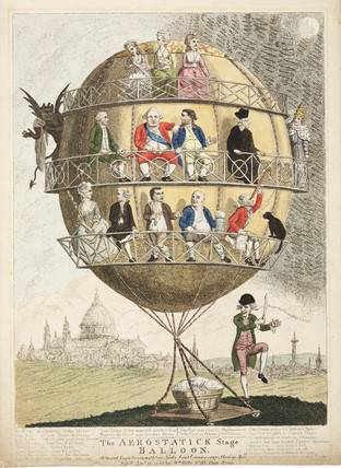'The aerostatick Stage Balloon', 1783.
