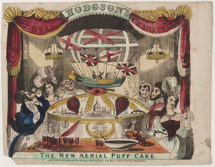'Hodgson's Royal Characters: The New aerial Puff Cake', 19th century.