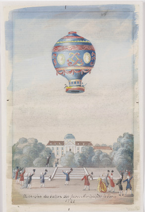 'Ascension of the Montgolfier Brothers' Balloon at Paris', 21 November 1783.