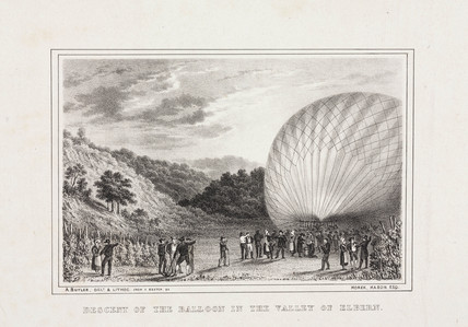 'Descent of the Balloon in the Valley of Elbern', 8 November 1836.