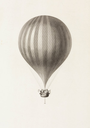 Green's 'Royal Vauxhall' balloon, c 1836.