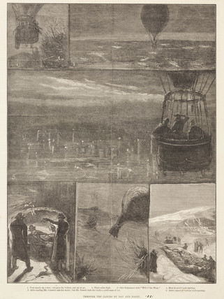 'Through the Clouds by Day and Night', 1881.