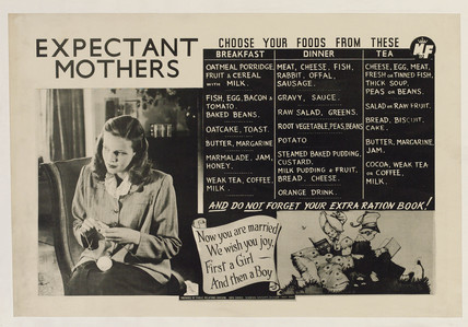 'Expectant mothers', public health poster, 1948.