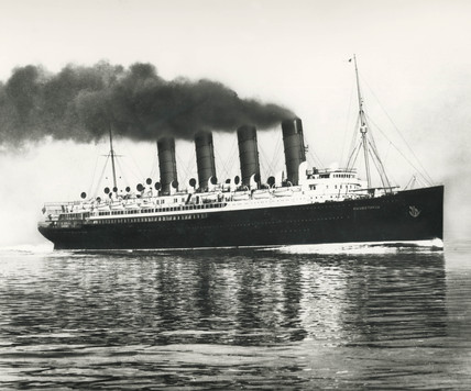 TS 'Mauretania', early 20th century.