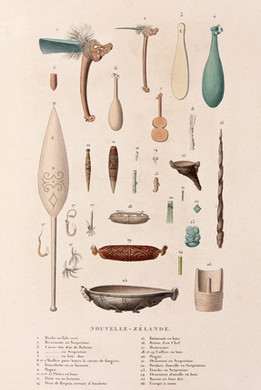 Artifacts from New Zealand, 1822-1825.