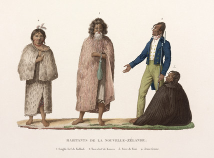 Inhabitants of New Zealand, 1822-1825.