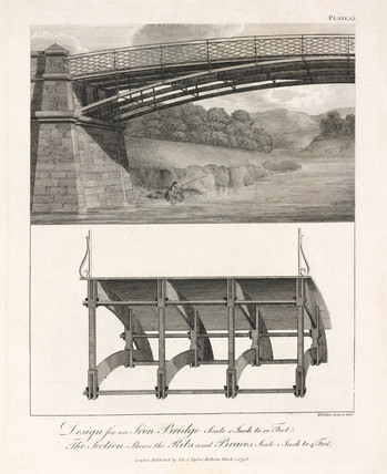 Design for an iron bridge, 1796.