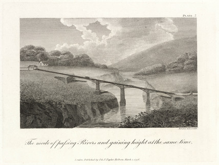 'The mode of pasing Rivers and gaining height at the same time', 1796.