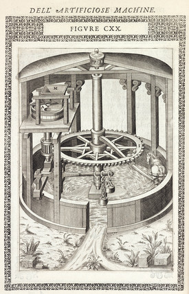 Horse-powered grinding-mill, 1588.