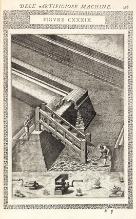 Machine for removing excavated earth, 1588.