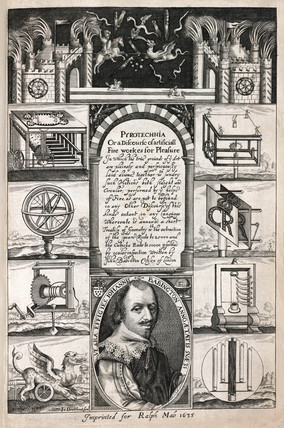 Frontispiece from Babington's Pyrotechnia, 1635.