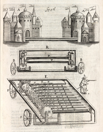 Artificial castles and simulated army, 1635.