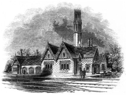 Proposed atmospheric railway station, 1845.
