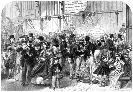 Shilling Day, International Exhibition, London, 1862.