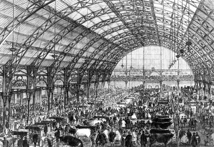 Smithfield Agricultural Show, London, 1862.