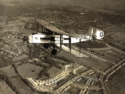 Argosy prototype G-EBLF 'City of Glasgow' in flight, 1927.