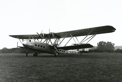 HP42 prototype G-AAGX 'Hannibal' seen at Radlett, 1931.