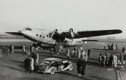 Ensign prototype G-ADSR at Croydon Airport , Greater London, c 1930s.