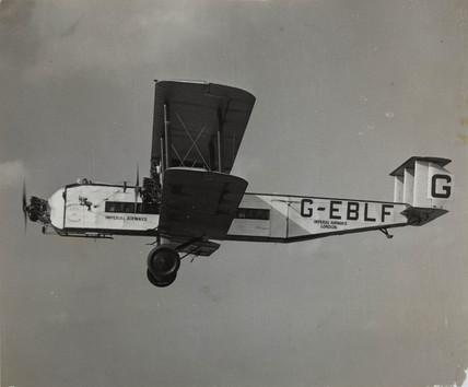 Armstrong-Whitworth Argosy prototype G-EBLF 'City of Glasgow' in flight, 1927.