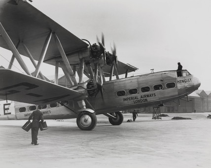HP42 G-AAXE 'Hengist' ready  for flight at Croydon Airport, c 1930s.