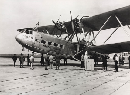 HP42 G-AAXC 'Heracles' preparing for departure, 1930s.