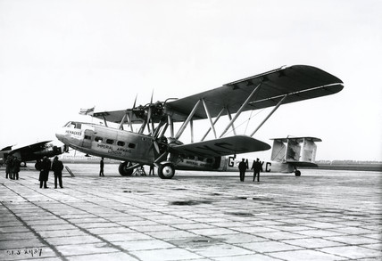 HP42 G-AAXC 'Heracles' on the ramp, posibly in Amsterdam, 1930s.