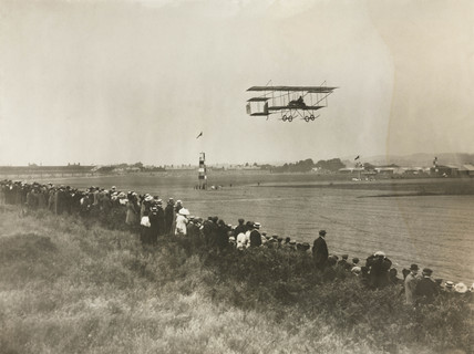 Monsieur Christiasons at the Bournemouth Flying Meet, c 1910.