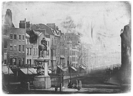 Whitehall from Trafalgar Square, London, 1839.