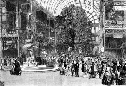 Transept, Great Exhibition, Hyde Park, London, 1851.