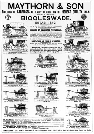 Carriage builder's advertisement, 1895.