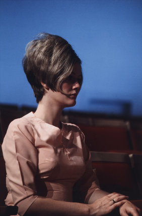 Woman with a beehive hairstyle, United States, 1971.