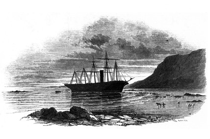 'Great Britain' ashore at Rathmullan, County Donegal, Ireland, 1846.