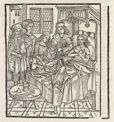 Ministering to the sick, 1512.