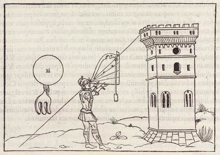Method for determining the height of a tower by using a 'theodolite', 1534.