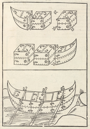 Boat with a modular structure, 1534.