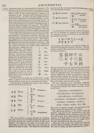 Explanation of the Chinese counting system, 1842.