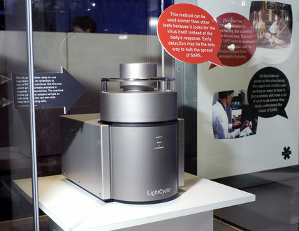 Light Cycler PCR machine on display at The Science Museum, London, 2003.