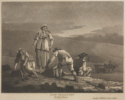 'Irish Peasantry, the Turf Footers', 1790.