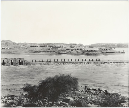 'North side of dam', Aswan, Egypt, September 1901.