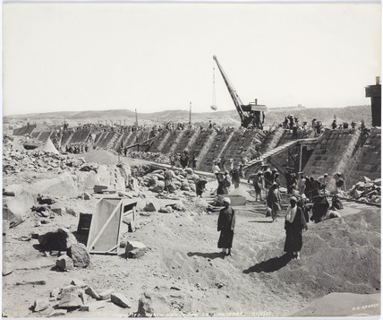 'North side of dam looking east', Aswan, Egypt, February 1901.