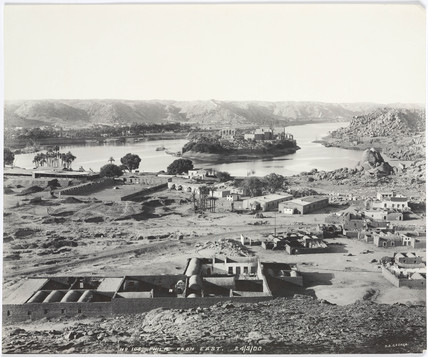 'Philae from east', Aswan, Egypt, May 1900.
