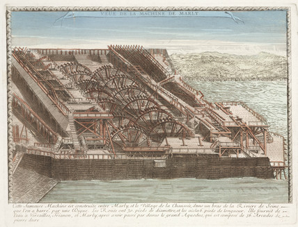 View of the Marly machine, France, 18th century.