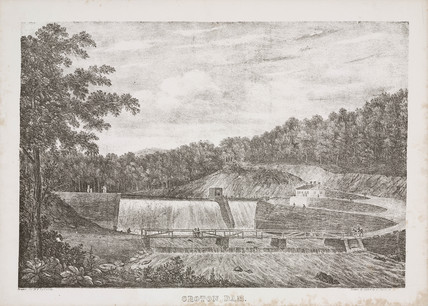 Croton Dam, New York, United States, mid 19th century.
