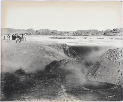 'Bab el Sogair, sudd cutting', Aswan, Egypt, July 1900.